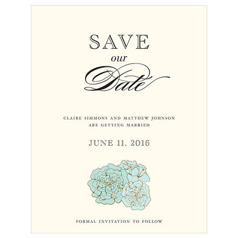 Vintage Burlap Save The Date