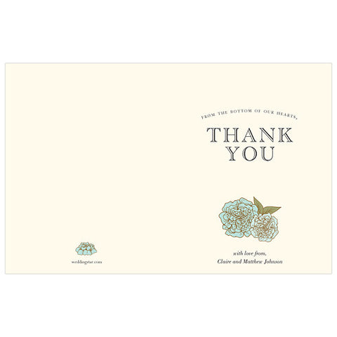 Vintage Burlap Thank You Card