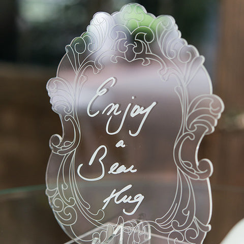 Contemporary Baroque Diecut Acrylic Sign