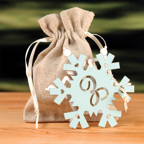 Snowflake Monogram Wedding Favor Tag