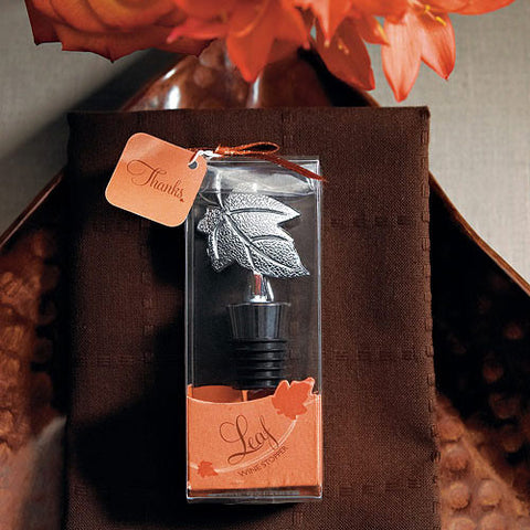 Leaf Wine Stopper in Gift Packaging Wedding Favor