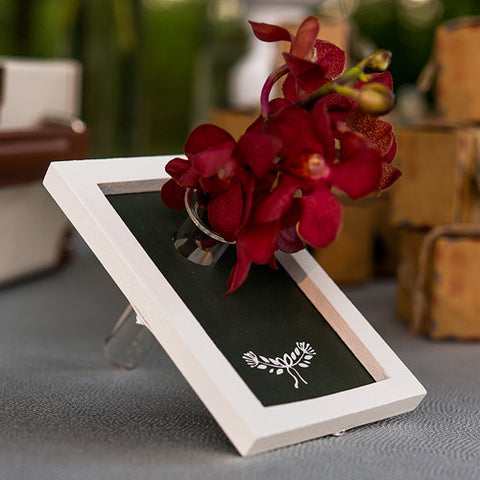 Mini Chalkboard with Glass Vase