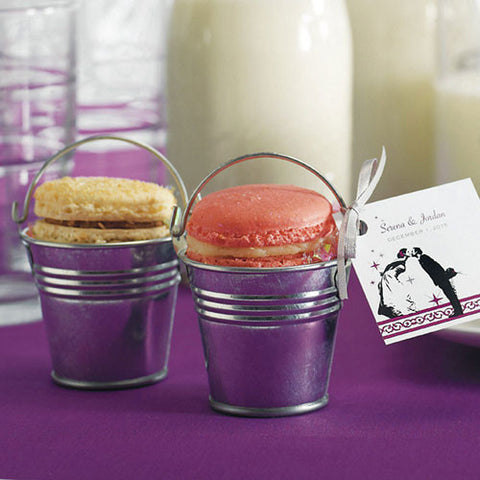 Miniature Metal Pail Wedding Favor