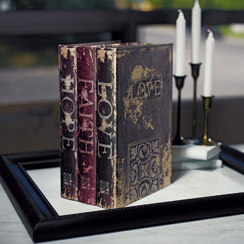 Stacked Antique Book Box - Wedding Wishing Well