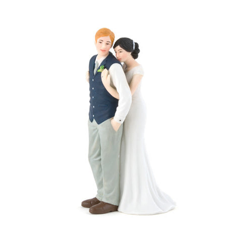 Sweet Bride and Groom Cake Topper