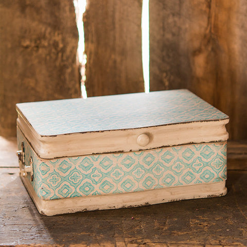 Vintage Inspired Wood Case with Hinged Lid