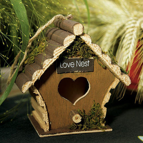 Miniature Wooden Birdhouses Wedding Favor