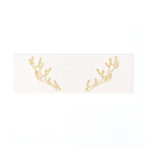 "Woodland Wedding Engraved ""Groom"" Sign"