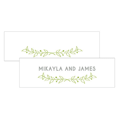 Woodland Wedding Small Rectangular Tag