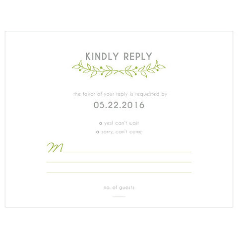 Woodland Wedding RSVP Card