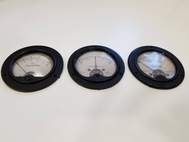 Vintage Gauges Trio resin replicas