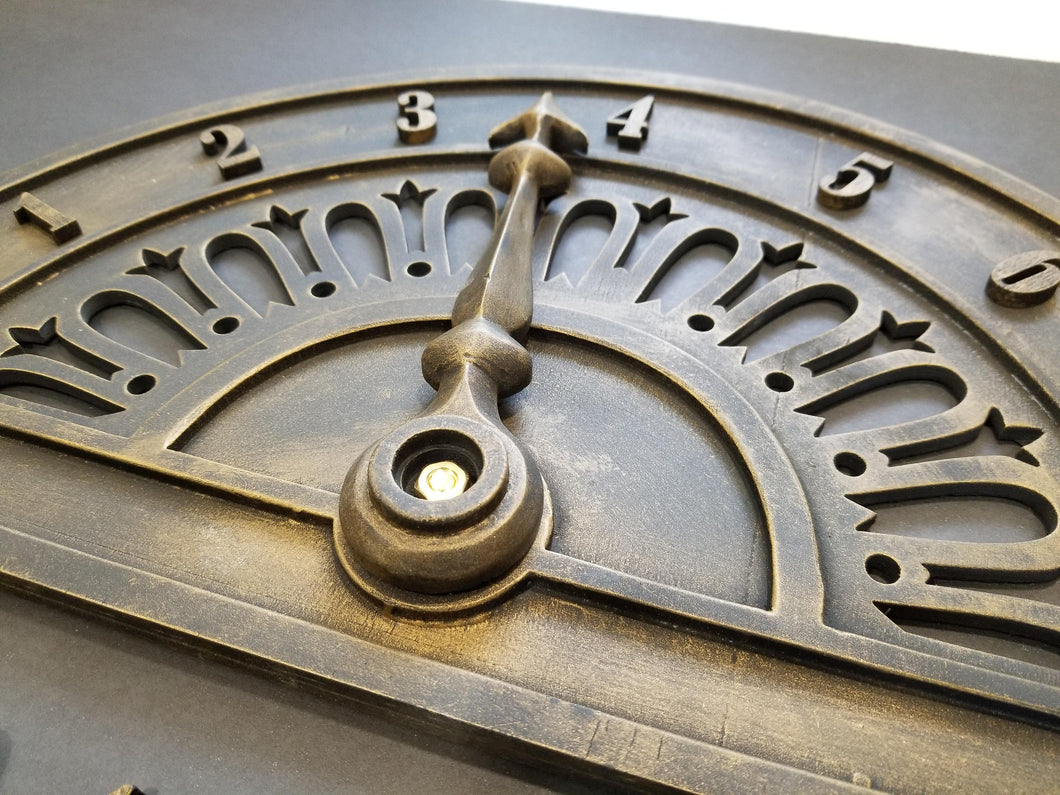 Vintage Elevator Dial Replica with Custom Order Numbers/Letters