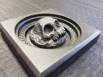 Skull Door Trim Rosette (resin)