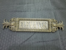 Load image into Gallery viewer, Combo 2 - Art Deco Stylized Elevator Sign and Call Button (Resin Replica)