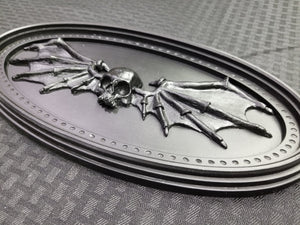 Skull Batwings Oval Ornament