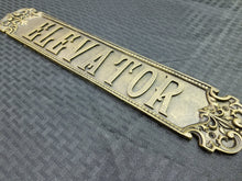 Load image into Gallery viewer, Vintage Elevator Sign (Resin)