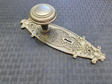 Load image into Gallery viewer, Antique Door Knob & Door Plate (Resin Replica)