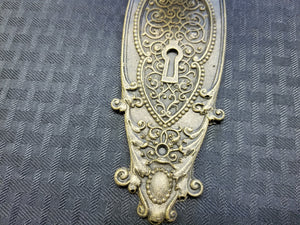 Antique Door Knob & Door Plate (Resin Replica)