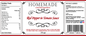 Red Pepper in Tomato Sauce