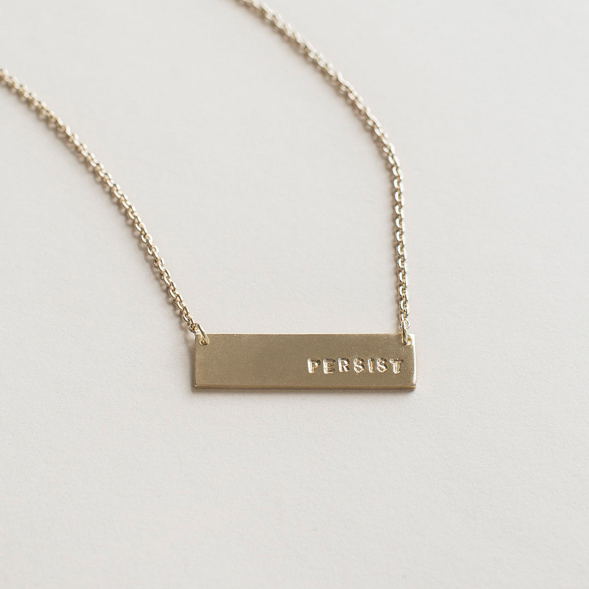 MULXIPLY Short Bar Persist Necklace