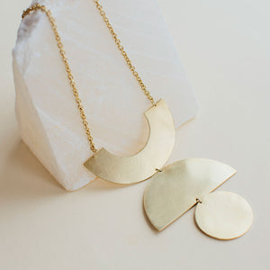 Bold necklace ethically handmade with highest quality metals and a stunning addition to any ethical wardrobe.
