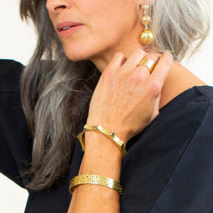 Ethically made modern adjustable cuff bracelet by MULXIPLY.