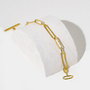 Loop Link Bracelet | Brass