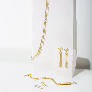 Chain jewelry in brass by MULXIPLY.