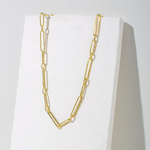 Ethically made modern chain necklace made by fairtrade artisans in Nepal.