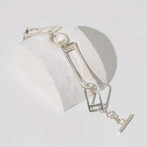 Window Link Bracelet - Sterling Silver