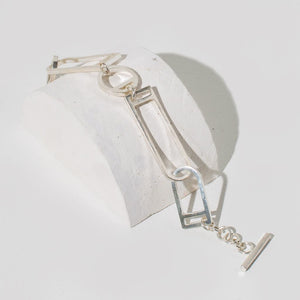Window Link Bracelet | Sterling Silver