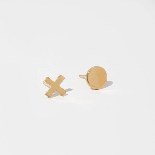 XO Stud Earrings | Mixed Metals