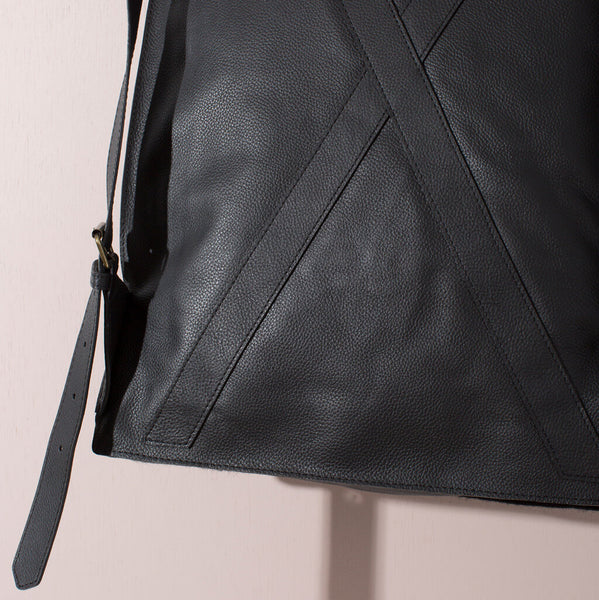 Felt + Leather Backpack | Black or Brown/Grey
