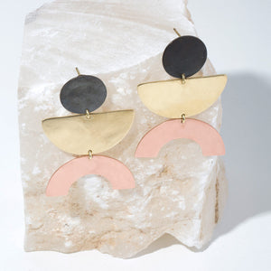 Balance Earrings by MULXIPLY are hand forged and made ethically by fair trade artisans in Nepal