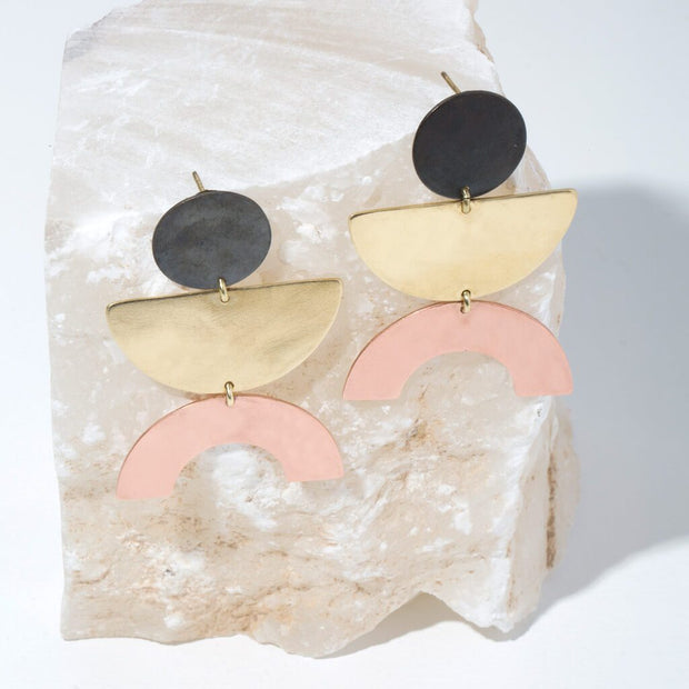 Balance Statement Earrings | Mixed Metals 1