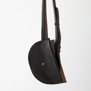 MULXIPLY Leather Belt Bag - Black