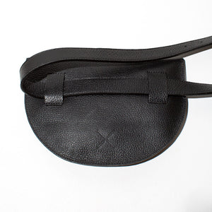 Leather Belt Bag - Black