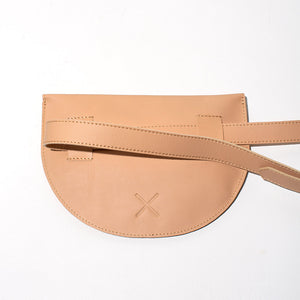 Leather Belt Bag - Tan