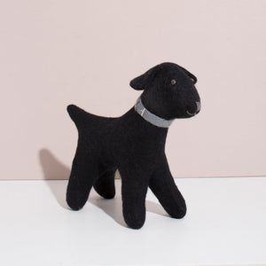 Hand Felted Large Black Labrador