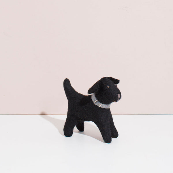 Hand Felted Black Labrador Duo