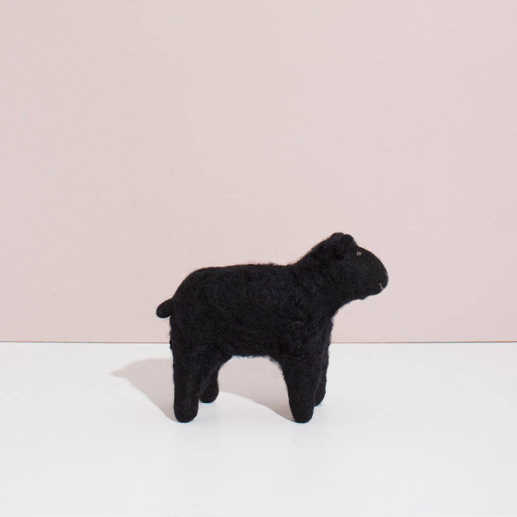 MULXIPLY Hand Felted Black Sheep - Small Stuffed Animals
