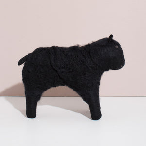 Hand Felted Black Sheep - Large
