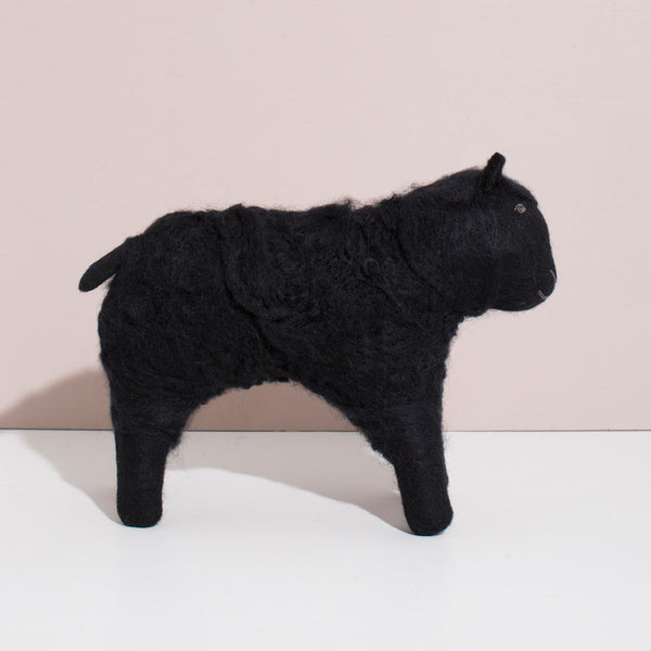 Hand Felted Large Sheep | Black
