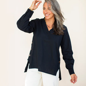 The Button Tunic - Black