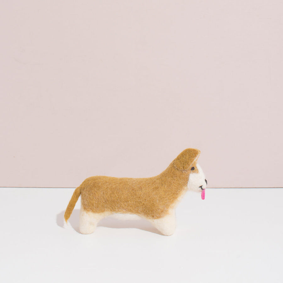 Hand Felted Small Corgi Puppy