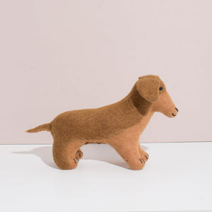 MULXIPLY Hand Felted Dachshund - Large Stuffed Animal