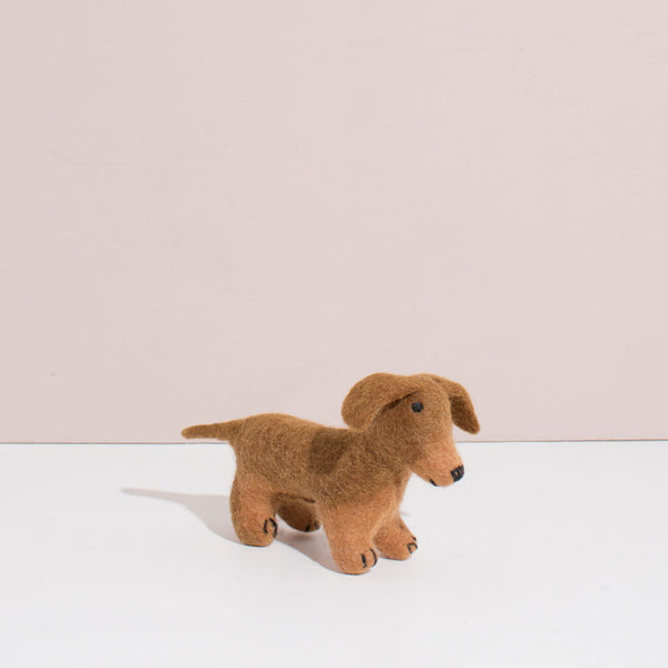 Hand Felted Small Dachshund Puppy