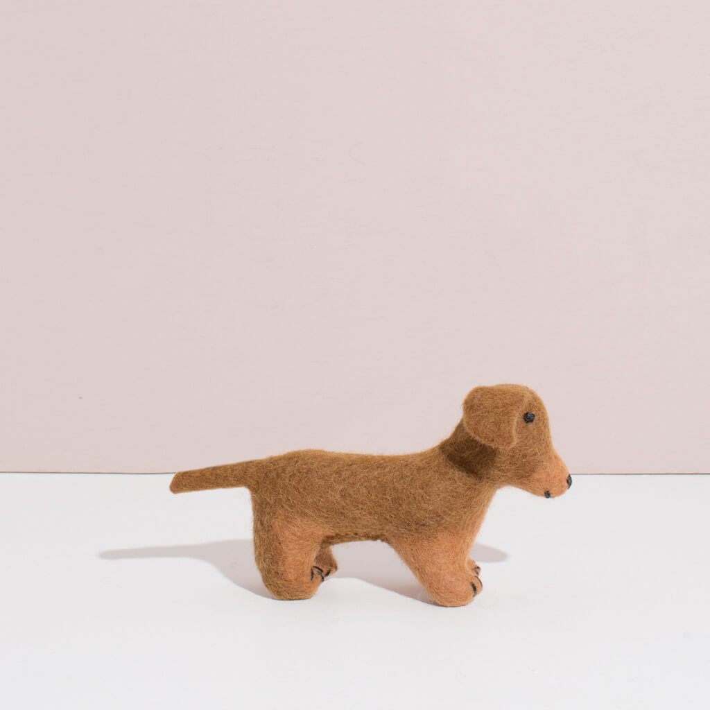MULXIPLY Hand Felted Dachshund - Small Stuffed Animals