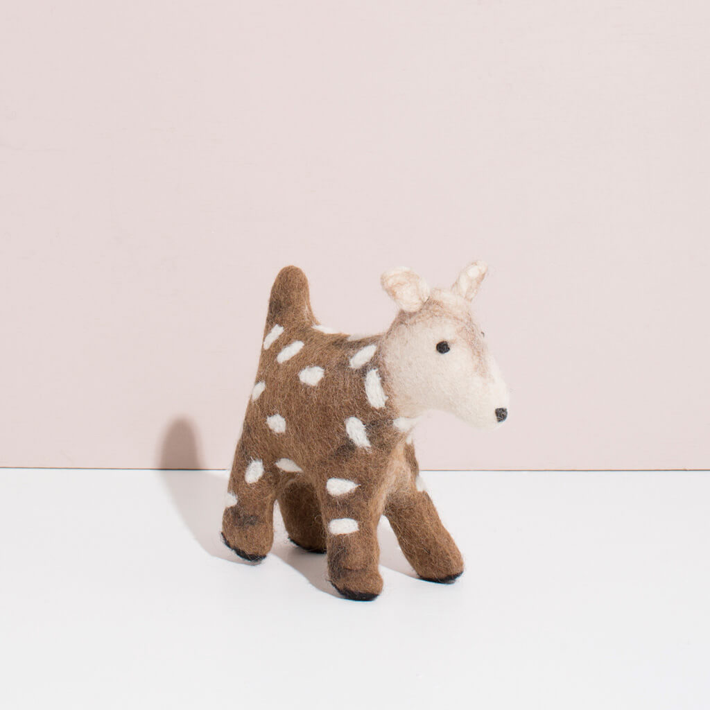 MULXIPLY Hand Felted Deer - Small Stuffed Animals