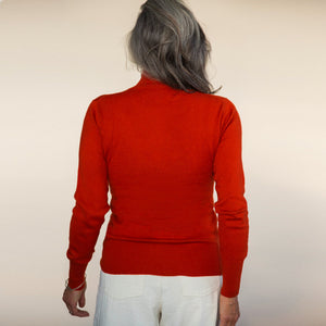 Turtleneck Sweater - Persimmon